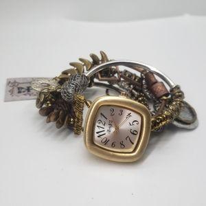 Treska Charm Bracelet Watch NWT